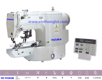 high-speed electronic button attaching sewing machine