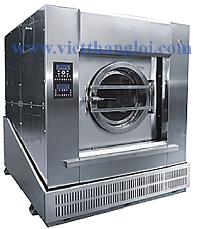 Series tilting washer-extractor when unloading